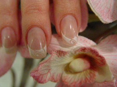 Рисунок на широкие ногти